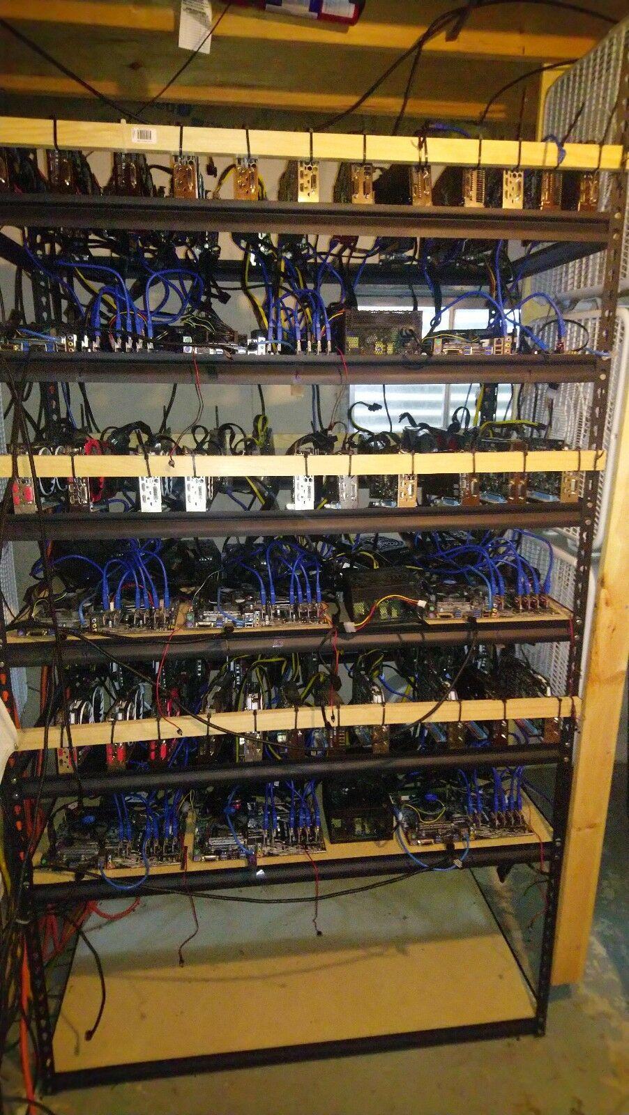 63 Gpu 9 Rig Amd Cryptocurrency Mining Farm Cryptocurrency Bitcoin Mining Rigs Bitcoin Mining Software