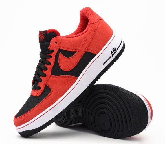 76a2a1cc57d0 Nike Air Force 1 Low - Black - University Red - SneakerNews.com ...