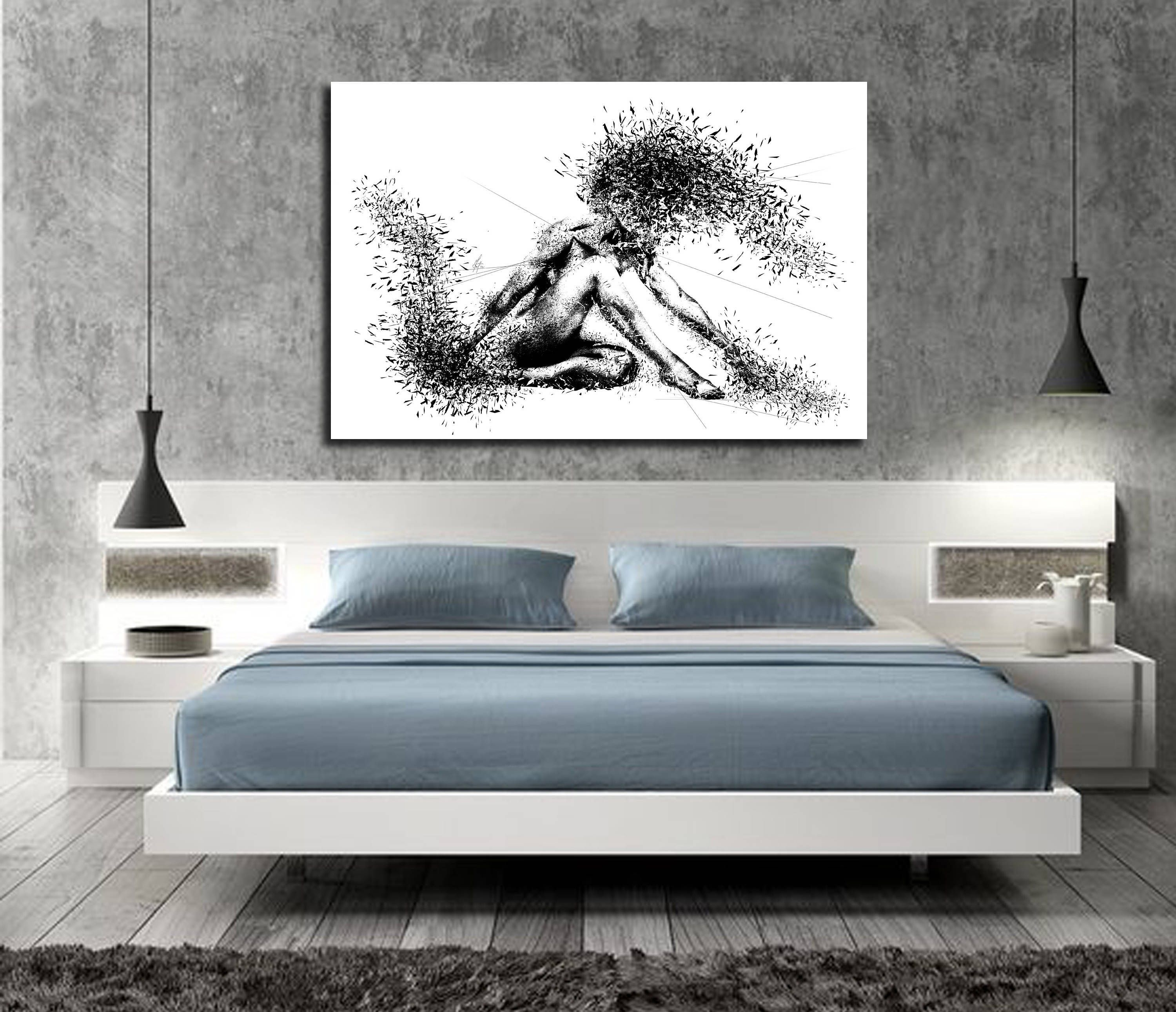CANVAS ART Sensual Bedroom Wall Decor Minimalist Abstract Art Modern Erotic Master Bedroom Wall & CANVAS ART Sensual Bedroom Wall Decor Minimalist Abstract Art ...