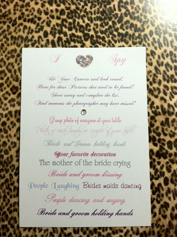 i spy cards weddingbee photo gallery bday pinterest wedding