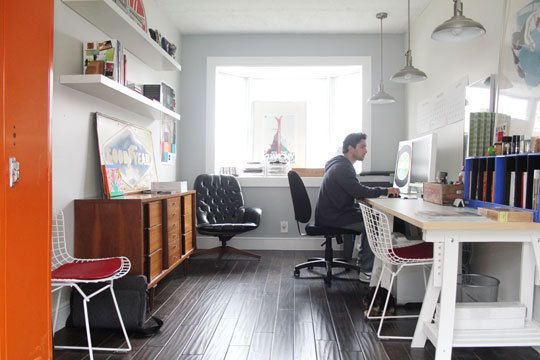 Real Life at Home: Matt's Converted Garage Design Studio | Converted garage,  Home, Home office decor