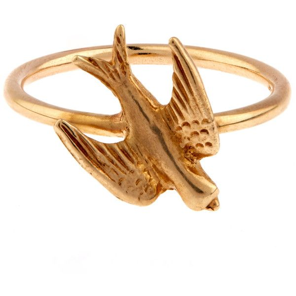 bec58968c7b56 Annina Vogel Gold Swallow Ring ($600) ❤ liked on Polyvore featuring ...