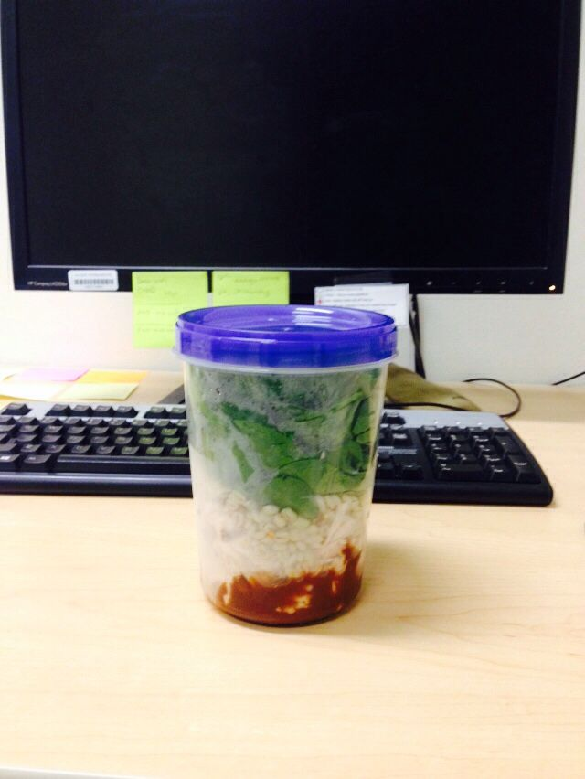 How brilliant is this!! A twist on the whole salad in a jar! Instead of using a Mason jar try using a Ziploc twist 'n loc fresh shield container not only is it more economical but no more having to worry about your jars breaking any more amazing