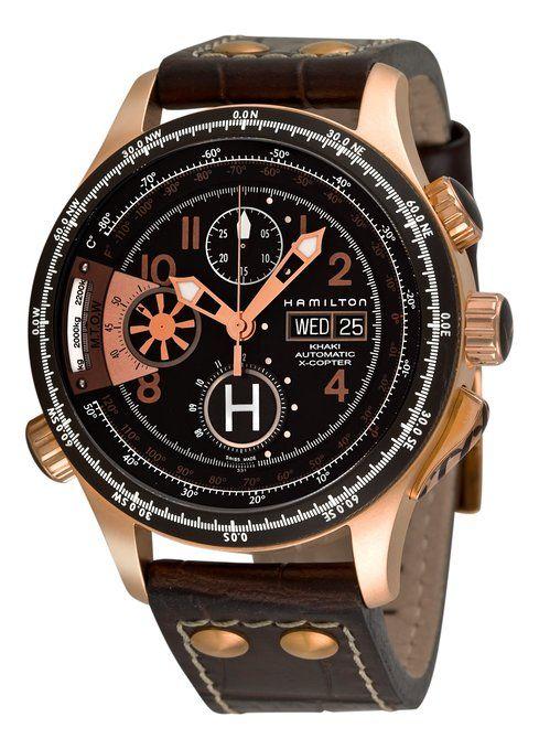 bcd32de26f01 Hamilton Men s H76646533 Khaki  Aviation X-copter  Black Chronograph Dial  Watch  Amazon.co.uk  Watches