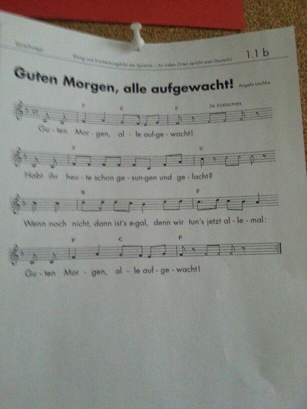 Guten Morgen Guten Morgen Lieder Kindergarten