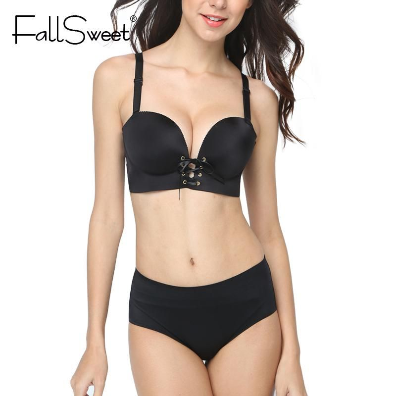 7a032f6f5c Padded Push Up Women Bra Set Sexy Lingerie Set for Small Breast ...