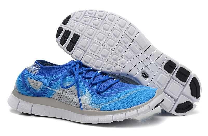 Cheap Nike Free 5.0 Flyknit Womens Blue Grey