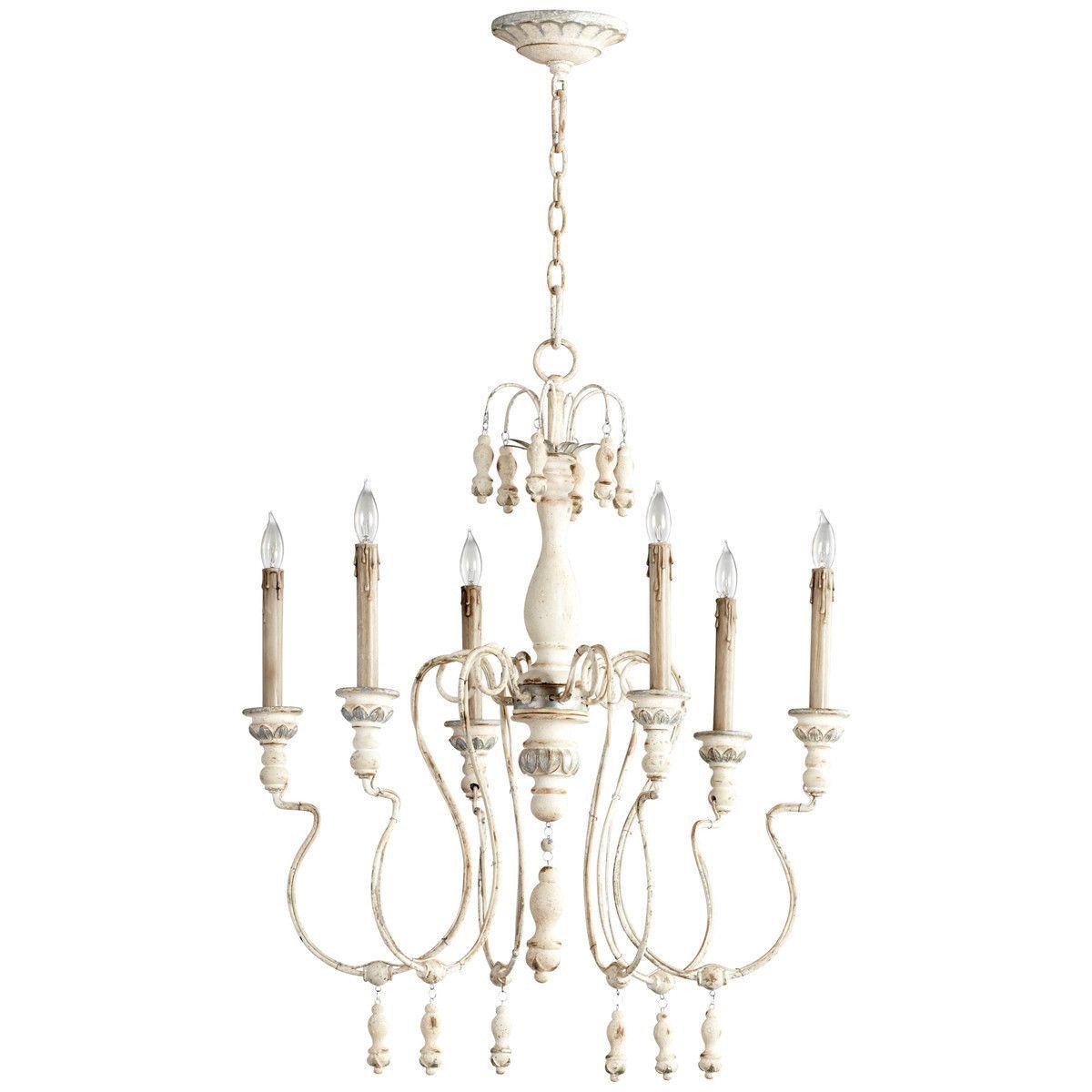 Cyan design chantal 6 light chandelier chandeliers wrought iron cyan design chantal 6 light chandelier aloadofball Image collections