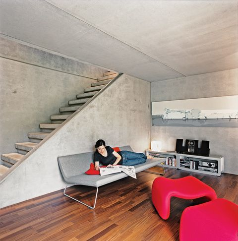 6 CONCRETE HOMES WE LOVE ~ http://www.Dwell.com/post/article/6-concrete-homes-we-love From a prefab house in Switzerland to a remodeled apartment in the Slovak Republic, these homes make use of an often ignored building material.