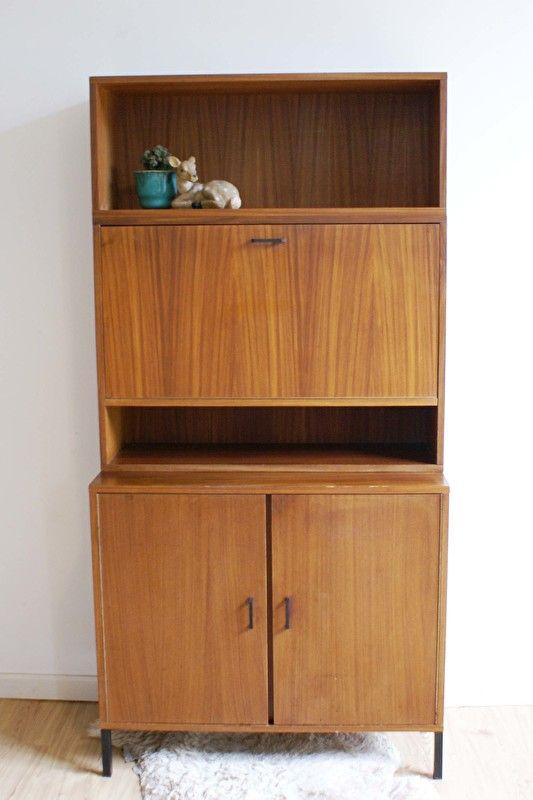 50 Jaren Kast.Houten Vintage Kast Met Barretje Retro Jaren 50 60 Design