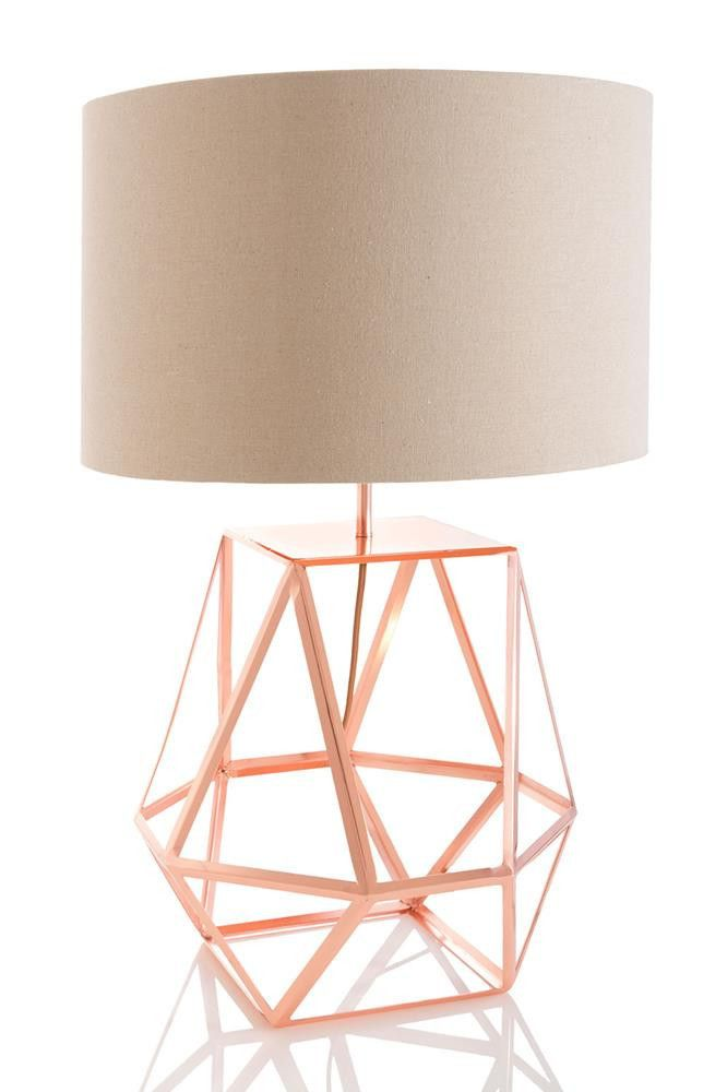 Zola Table Lamp Copper Or Black Copper Table Lamp Geometric Table Lamp Copper Lamps