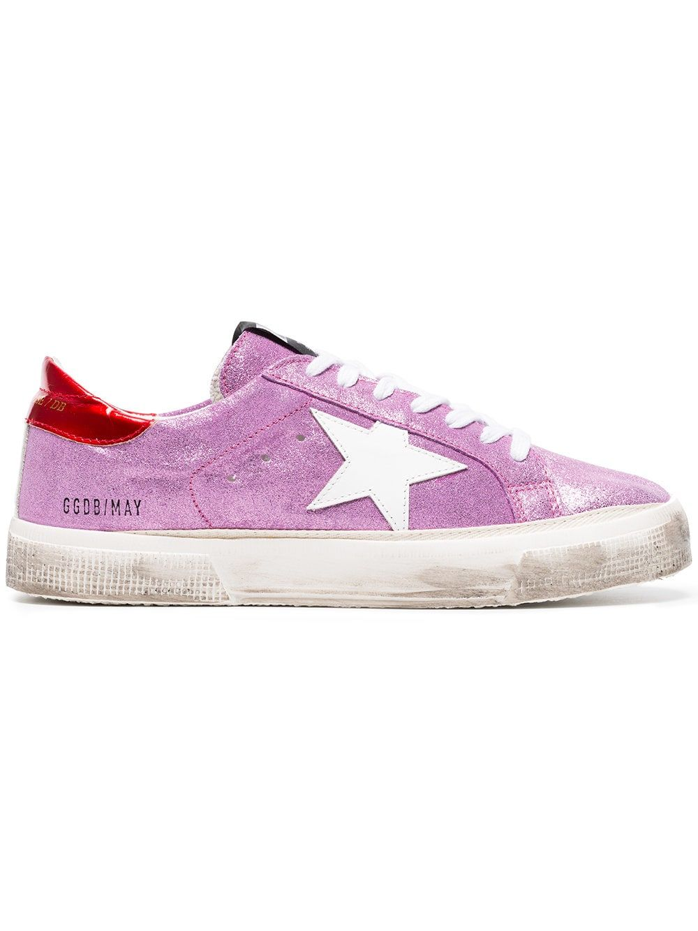 0c656edeb79 Golden Goose Deluxe Brand pink May glitter leather sneakers | what i ...