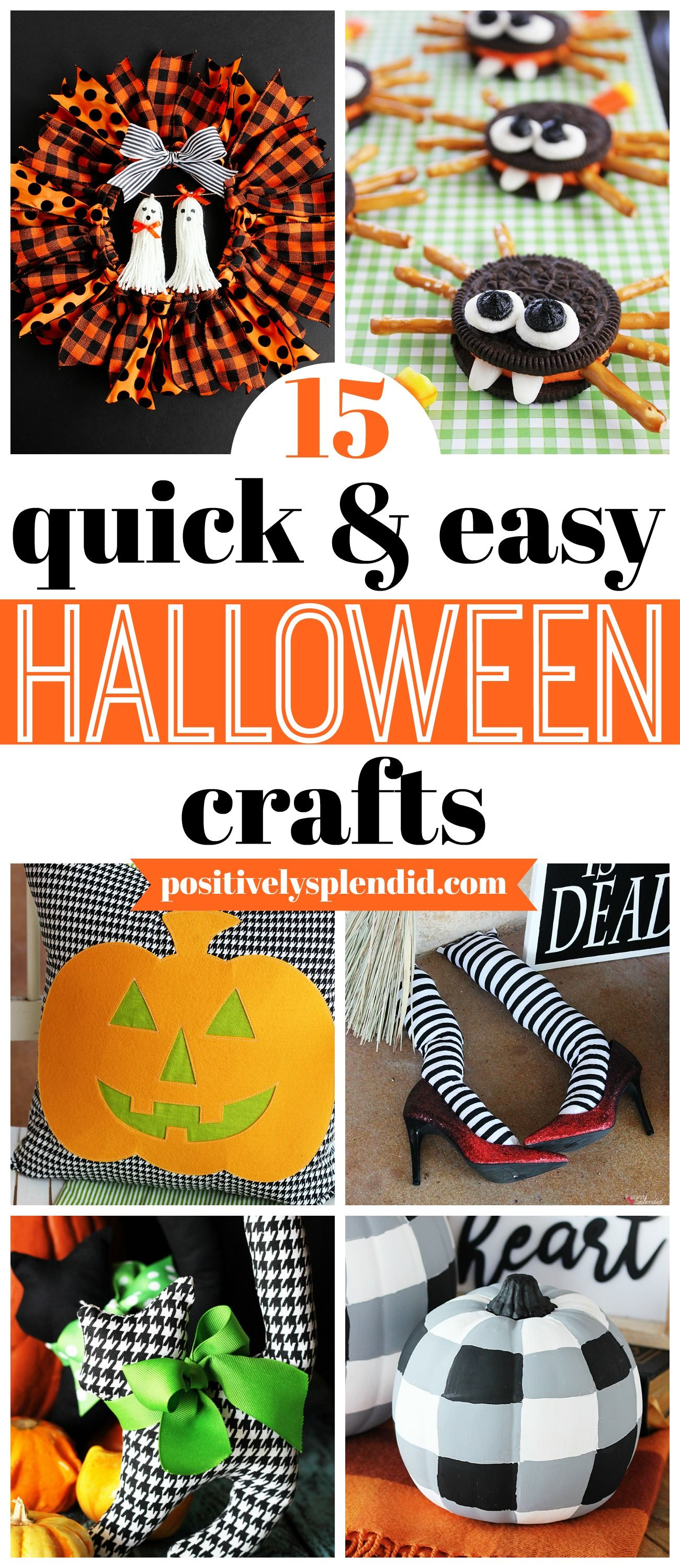 Quick Halloween Crafts to Make 15 simple and fun ideas