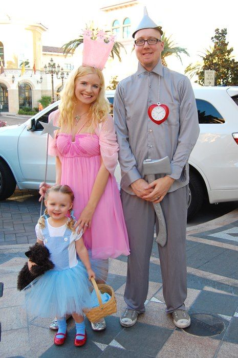 Diy Halloween Costumes From My Past Dorothy Glinda The Tin Man From The Wizard Daughter Halloween Costumes Baby Halloween Costumes Diy Halloween Costumes