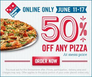 Starting this week, Domino's Pizza is spreading the pizza love by extending its Monday through Thursday $ carryout deal to every day of the week. The Domino's carryout deal applies to a pick-up only, large three-topping pizza for $