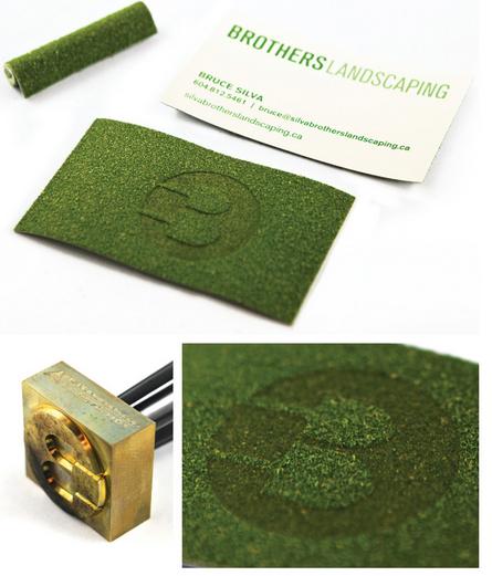 Las tarjetas de presentacion mas creativas14 business cards brothers landscaping turf business cards these send an immediate message reheart Choice Image