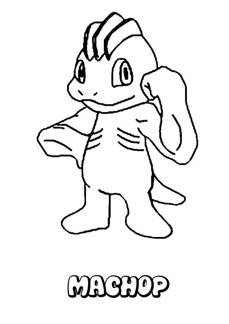 machop pokemon coloring page more fighting pokemon coloring