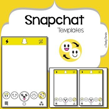 Snapchat Templateeven At A Young Age Social Media Is Something Children Are Aware Of And Motivated By Use Th Snapchat Template Teaching Teaching Kindergarten