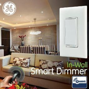 ge wave wireless. GE Smart Dimmer, Z-Wave, In-Wall, 12724, Works With Ge Wave Wireless