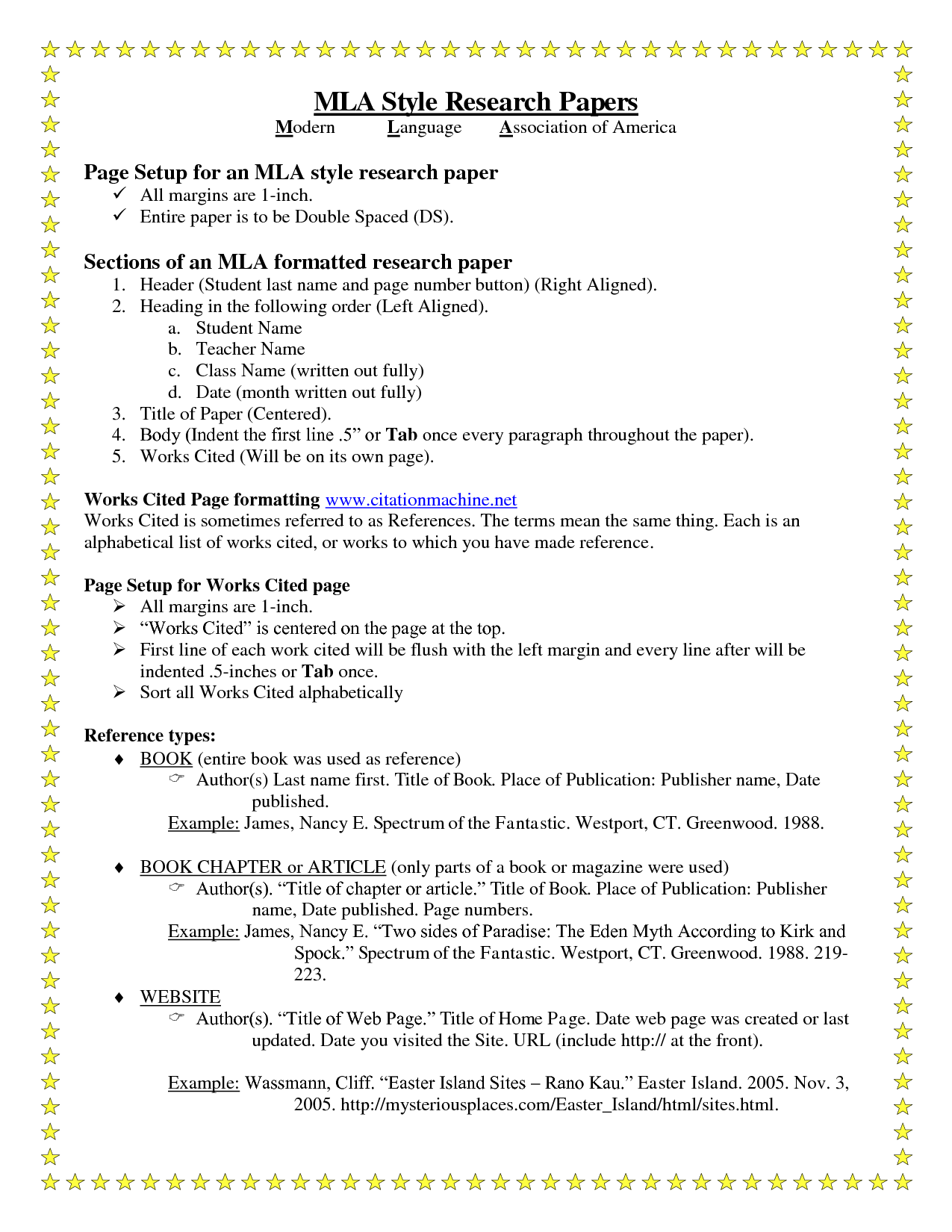 Mla Style Research Paper Sample Success Pictures Homeschool