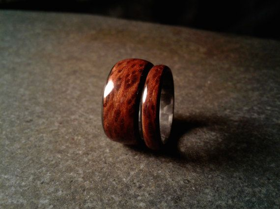 Redwood Burl and Carbon Fiber Ring Mens Ring Wedding Ring Wood