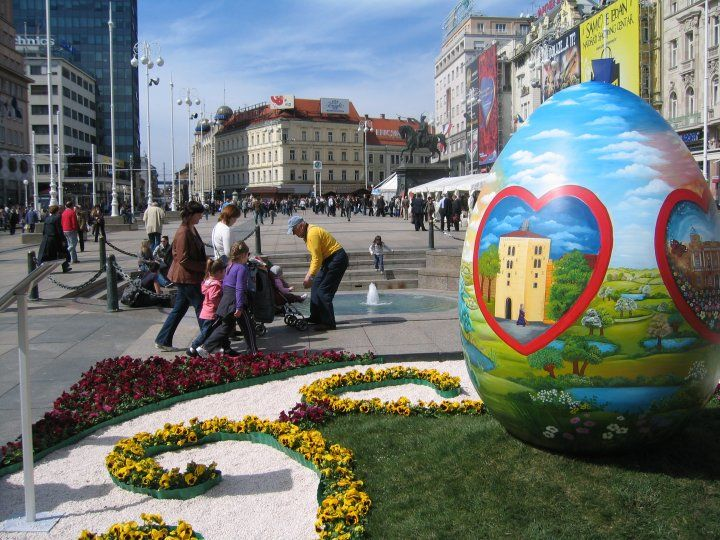 Easter Eggs In Zagreb Zagreb Croatia Central Europe