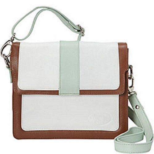 f08cc9f5f29c Deleite 10 by SHARO. A gorgeous leather cross body bag in Mint ...