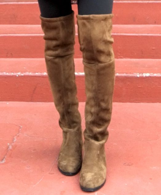 brown choies over the knee boots lowland dupes