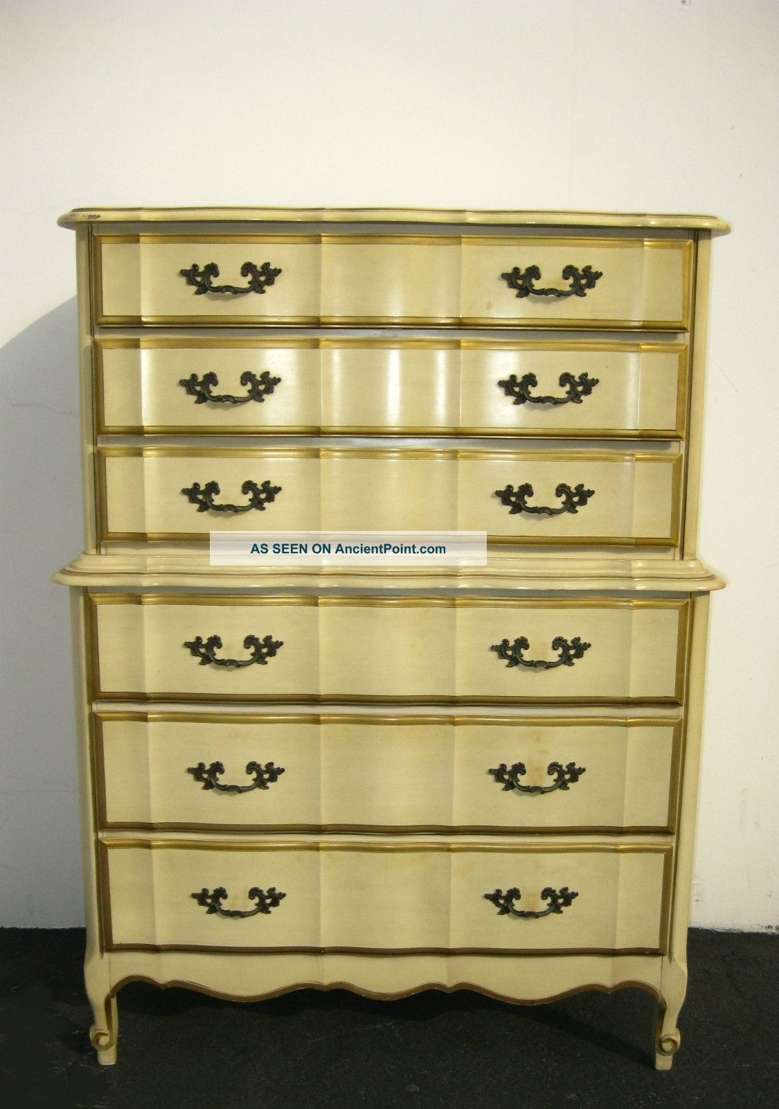 Vintage Kent Coffey French Provincial Dixie Style Tallboy Dresser Six Drawers Post 1950 Photo