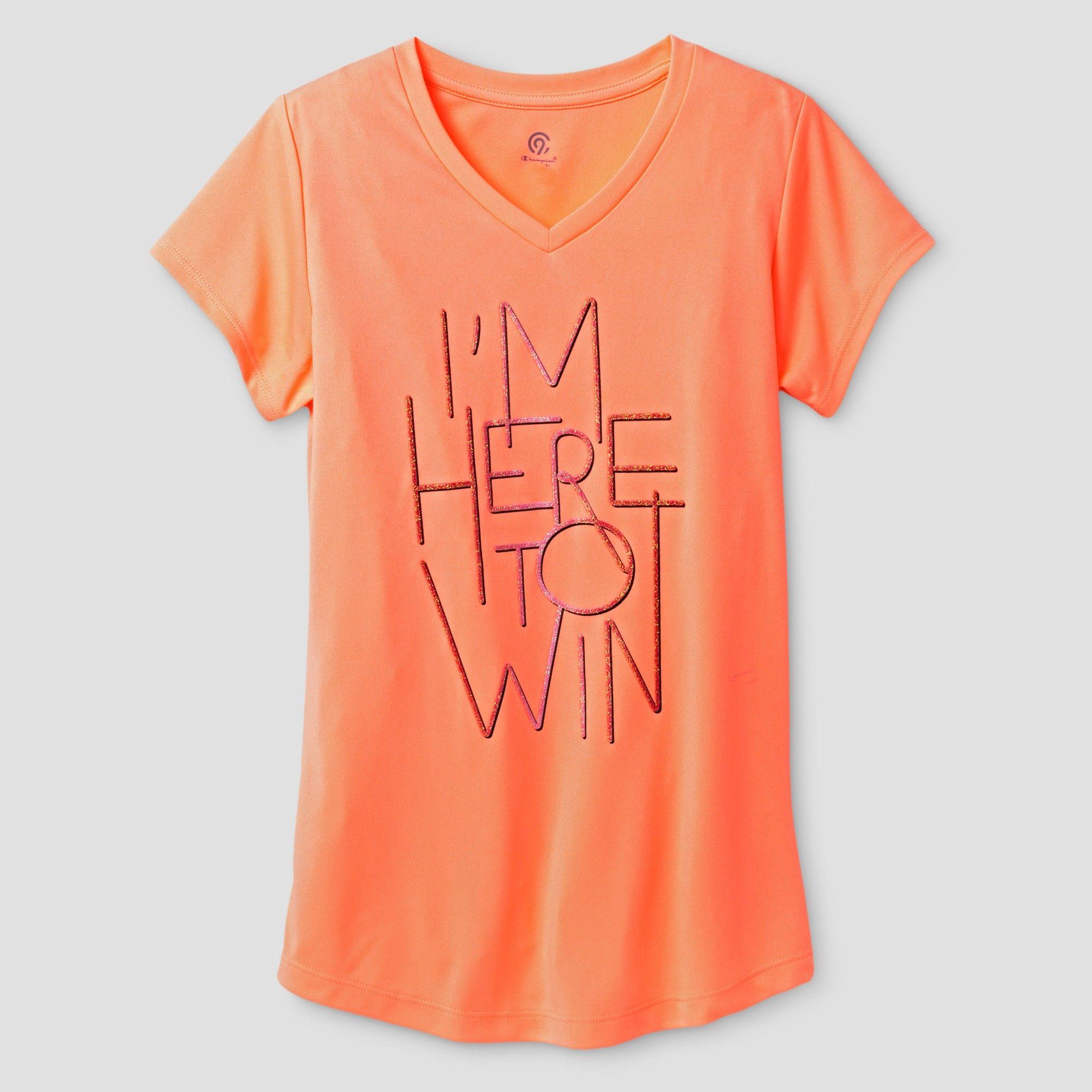 0c4abf62 Girls' Graphic Tech T-Shirt - C9 Champion Light Coral XS, Pink ...