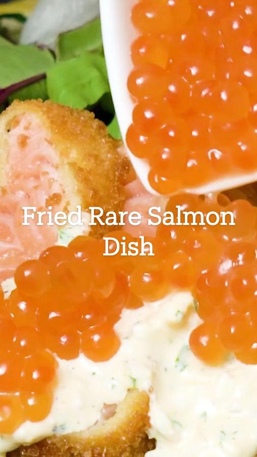 Fried Rare Salmon Dish