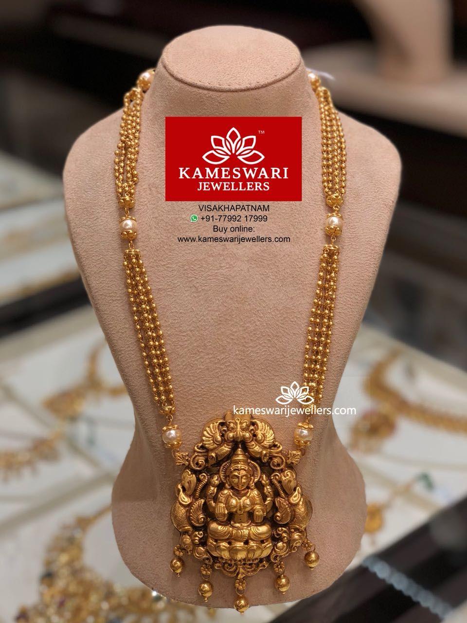 Nakashi pendant and pearl chain jewellery pinterest india