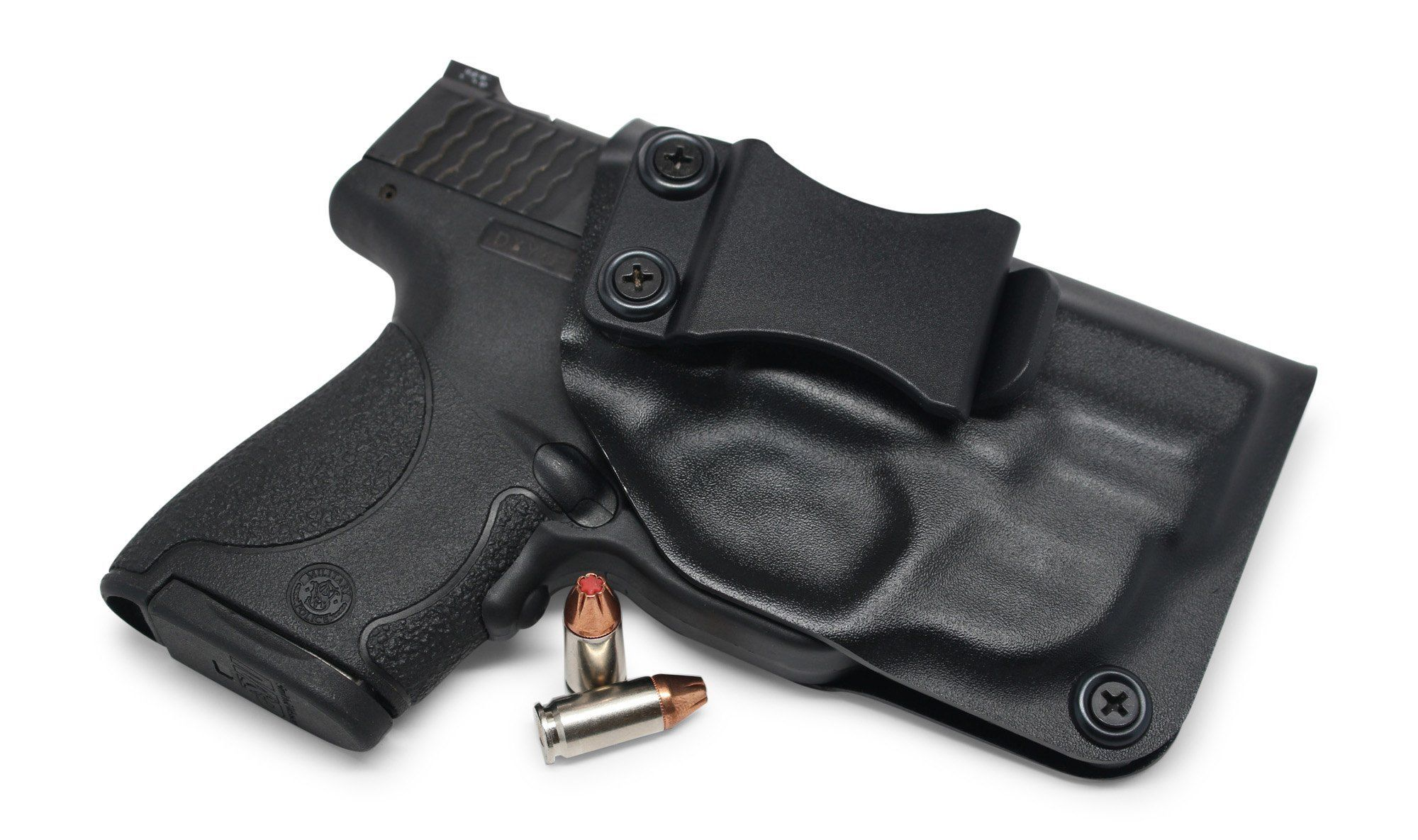 Smith & Wesson M&P Shield 9MM/.40 w/Green Crimson Trace Laser IWB KYDEX Holster