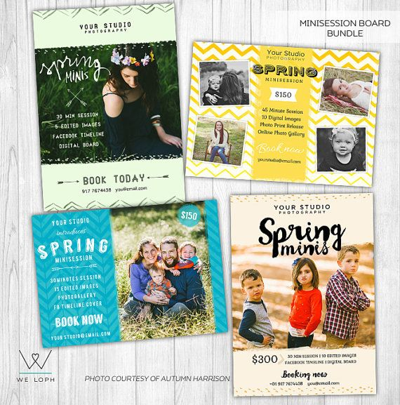 Spring Mini Session Bundle Marketing Board Template for by WeLoph