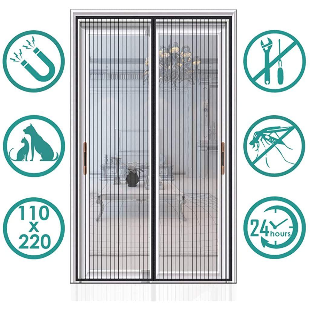 Fermeture Automatique Adsorption magn/étique Coupe-Vent Imperm/éable Isolation AMCER Rideau de Porte Anti Froid Rose Porte Isolant Coton pour Couloirs//Portes 70x180cm