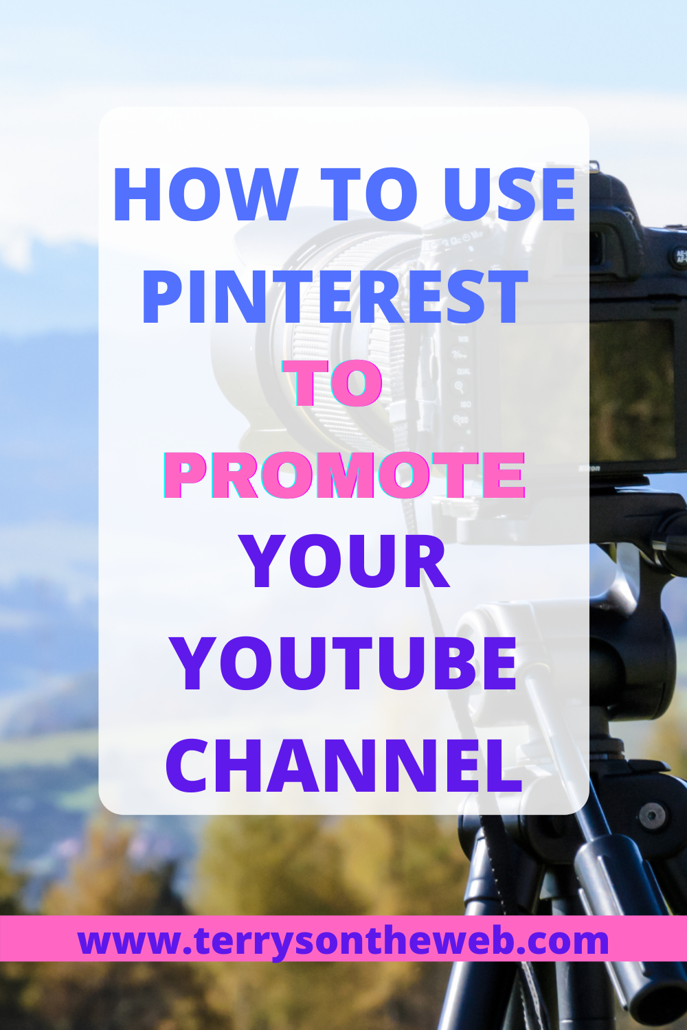 How To Use Pinterest To Promote Your Youtube Channel You Youtube Instagram Life Pinterest Management