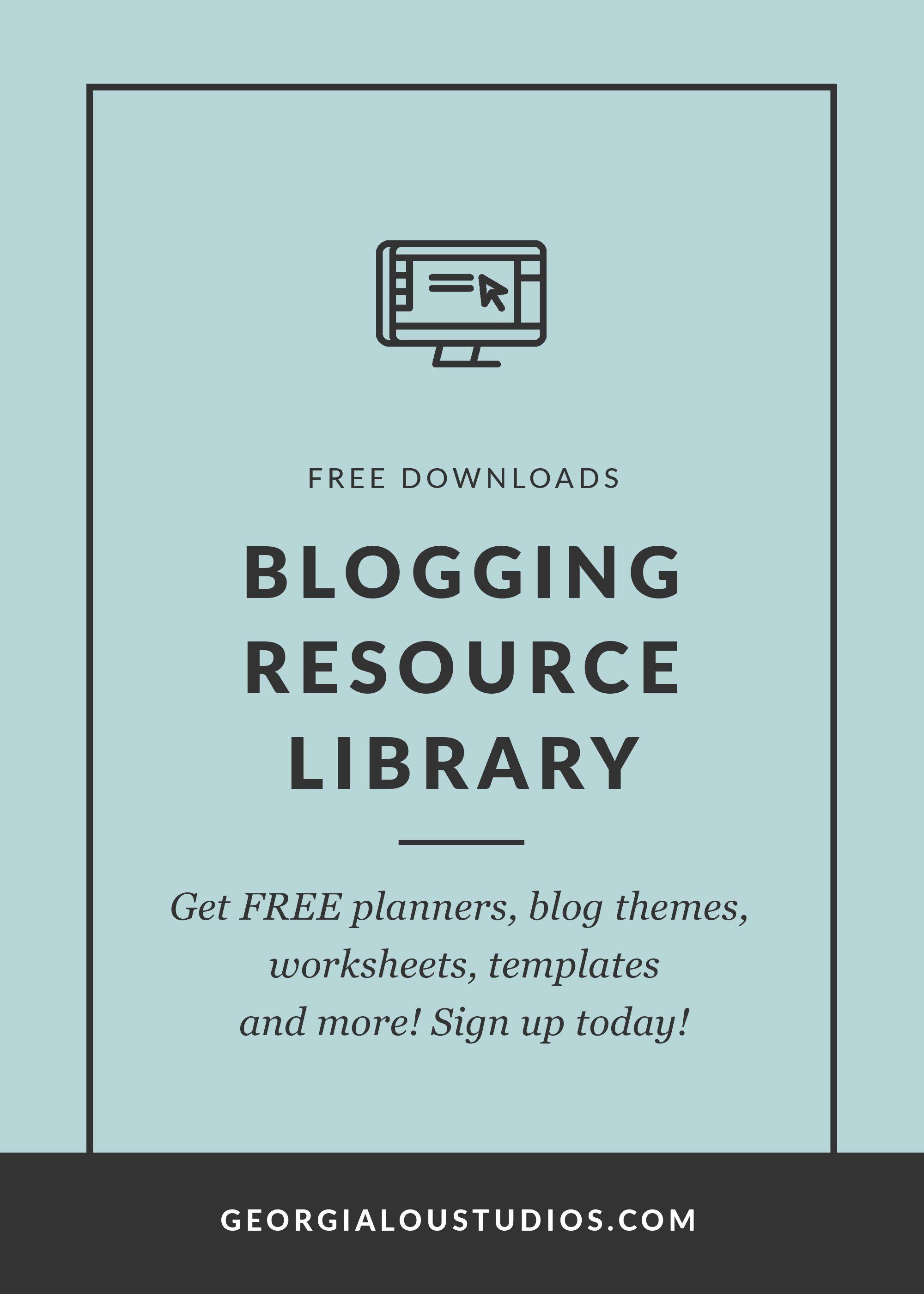 Get Free Blogging Resource Downloads Including Worksheets