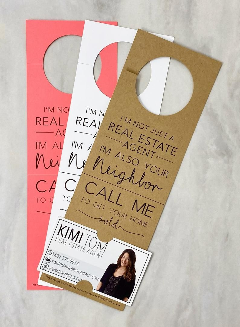 I'm not just a Real Estate Agent Door Hanger Tags