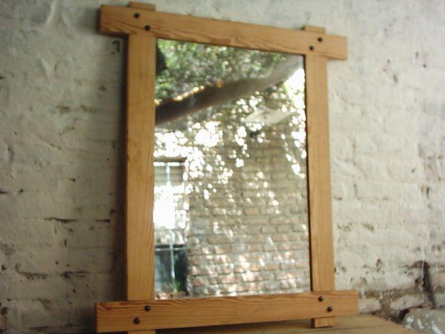 Espejos rusticos de madera buscar con google espejos for Espejos para banos con marco de madera