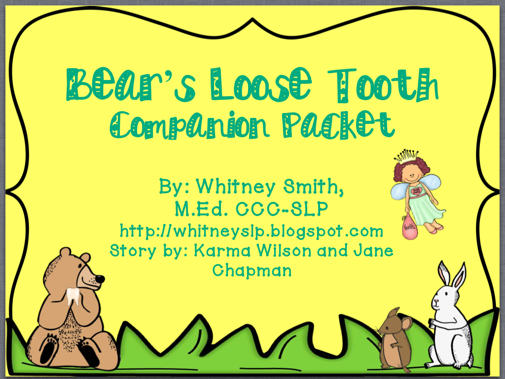 Let S Talk Bear S Loose Tooth A Book Companion Pinned