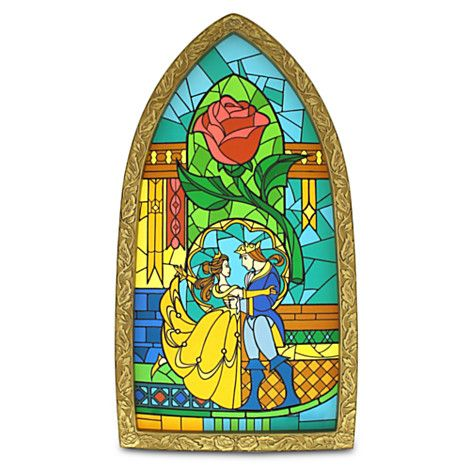 Beauty And The Beast Stained Glass Window Replica From
