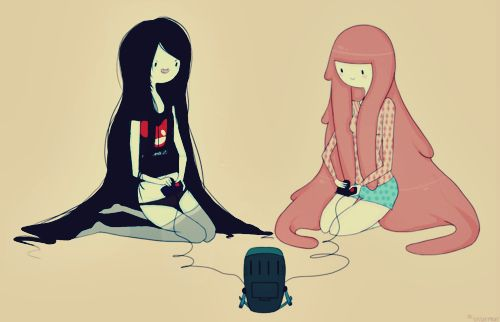 Adventure Time Marceline Princess Bubblegum And BMO