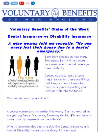 Voluntary Benefits Claim Of The Week 8 7 Dental Insurance