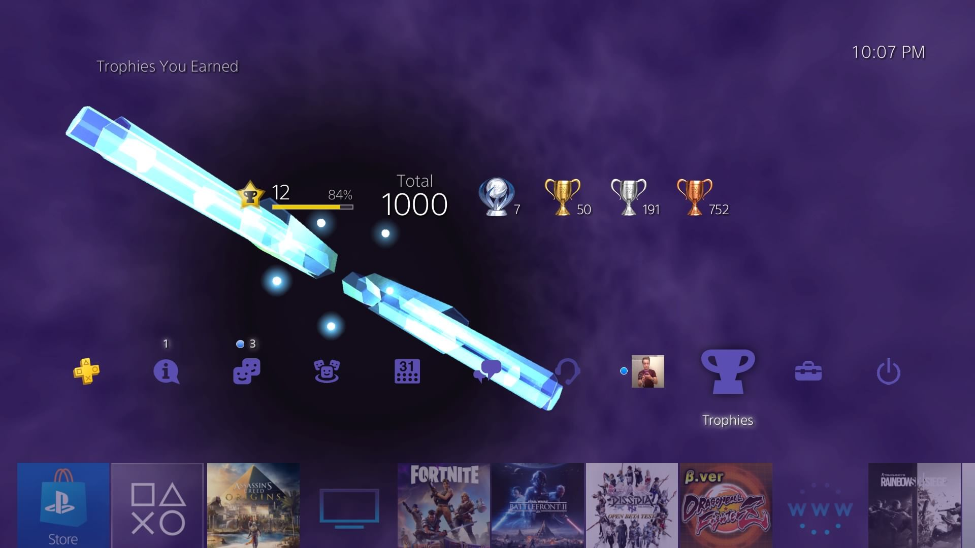 Screenshot] The Platinum Trophy for Assassins Creed: Origins is also