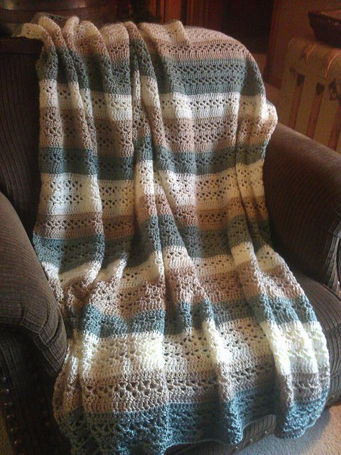 V-Stitch Throw, free pattern from Caron International Yarns ...