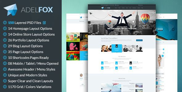 AdelFox Multi-Purpose PSD Template Psd templates, Personal - profile templates
