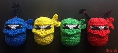 Hæklede Ninjaer Som Kinderæg Crochet Pinterest Häkeln Häkeln