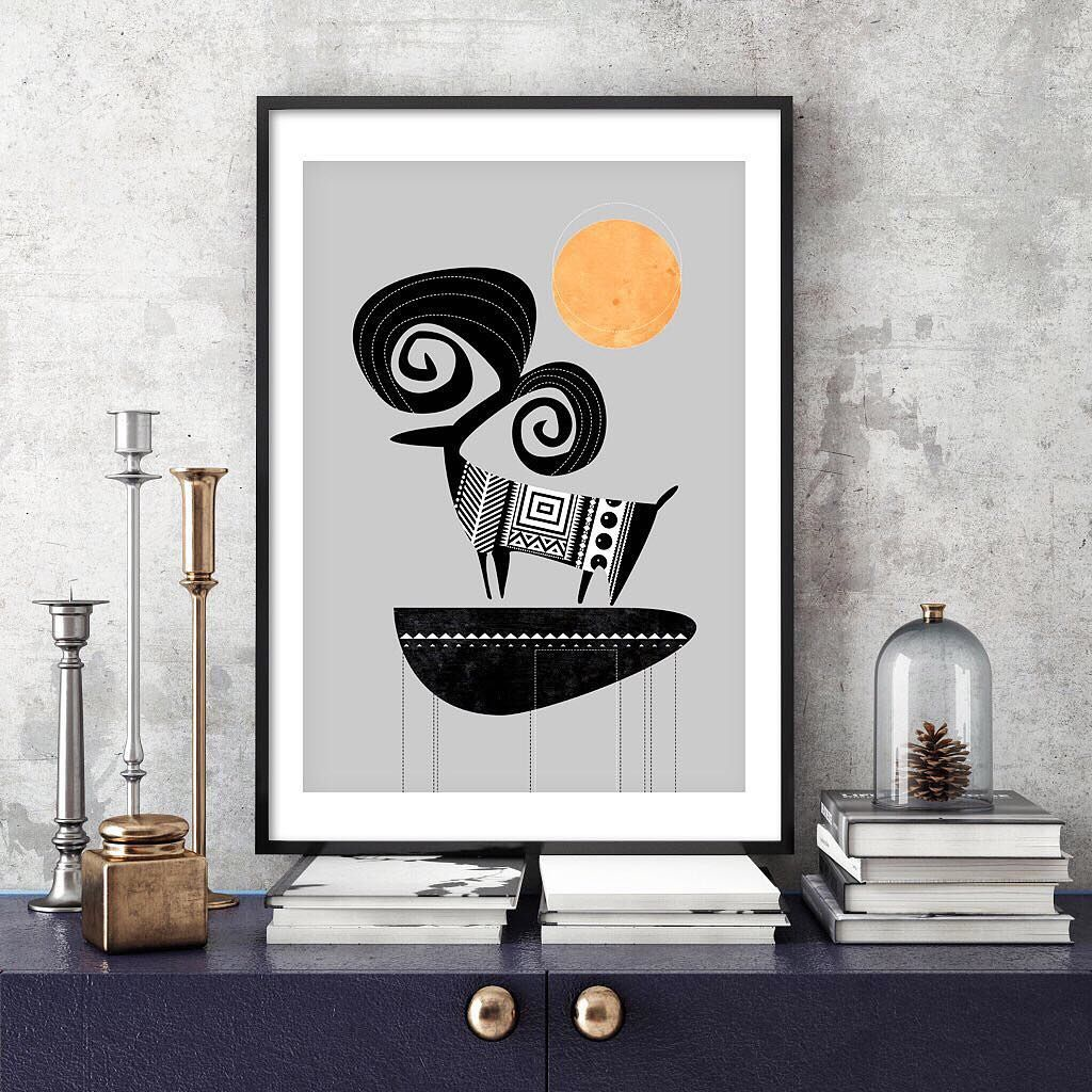 The Ram: bold, majestic with a folk flair. Rustic and textured fine art print. Brand new in my Etsy boutique. #montrealdesigner #montreal #mtlmoments #blackandwhite #graphic #animal #soulcurryart #soulcurryartprint #montrealartist #madeinmontreal #etsy #etsycanada #etsymontreal #etsymakers #madeincanada #madeinmontreal #dramatic #pattern #tribal #artprint #folk #folkart #bold #simplistic #lifeofanartist #bestmadehandmade #maker #wallart #homedecor #gallerywall #ram