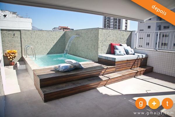 Piscina pequena pesquisa google pools pinterest for Mobiliario terraza pequena