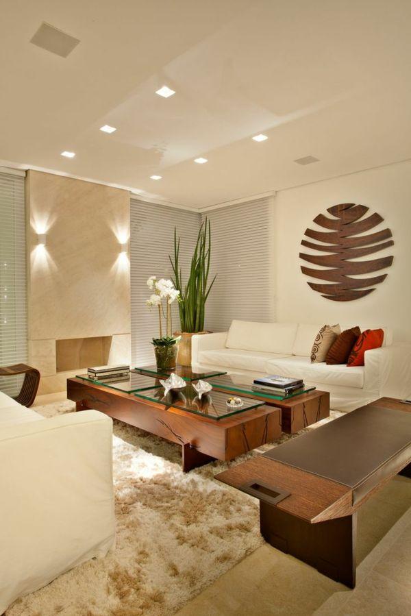 einrichtungsideen wohnzimmer möbel modern trendy beleuchtung lichter ...